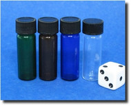 Glass Bottle - Your Choice of Color - 1 Dram / 4ml / 1/8oz
