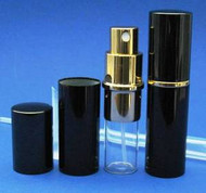 Black Metal Atomizer - 1/3oz / 10mL