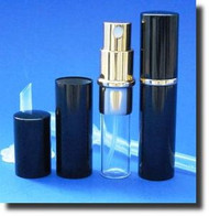 Black Metal Atomizer - 1/6 oz / 5mL