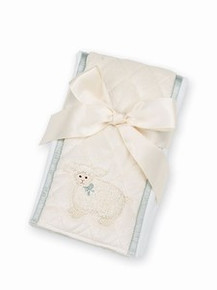 Bearington Baby LAMBY LAMB Burp Cloth Cream unisex baby  gift