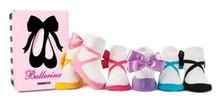 Trumpette BALLERINA w/ BOW Baby Girl Socks 6 prs. 0-12 months