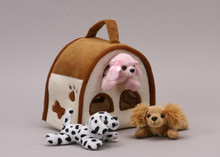 Unipak Plush DOGS FINGER PUPPET ANIMAL HOUSE toy