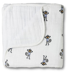 ADEN ANAIS 4 LAYER Muslin DREAM Blanket MONKEY