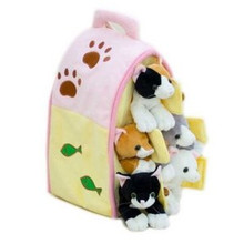 "Unipak Plush Toy - 12"" CAT HOUSE"