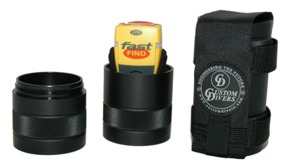 Custom Divers PLB Dive Canister with Belt Mount