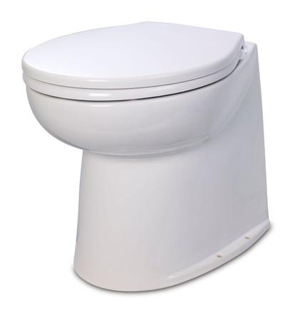 RWB Jabsco Deluxe Silent Flush Electric Toilets - Vertical Back Salt Water Rinse