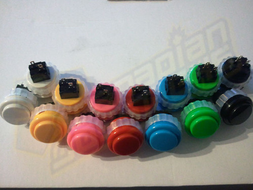 Seimitsu PS-14-DN Solid Colour 24mm Screw-In Pushbutton