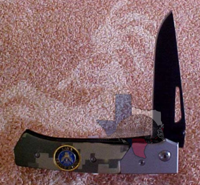 TG13026 - Best Quality Stainless Steel Blade - Navy Two-Tone Camouflage Gray