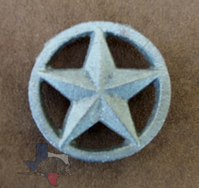 Cast Iron Texas 3-D Star on Circle