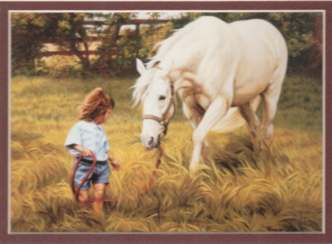 ART-PP-00001  Western Little Cowgirl Children Print