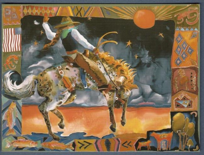 Western Cowgirl Print Art