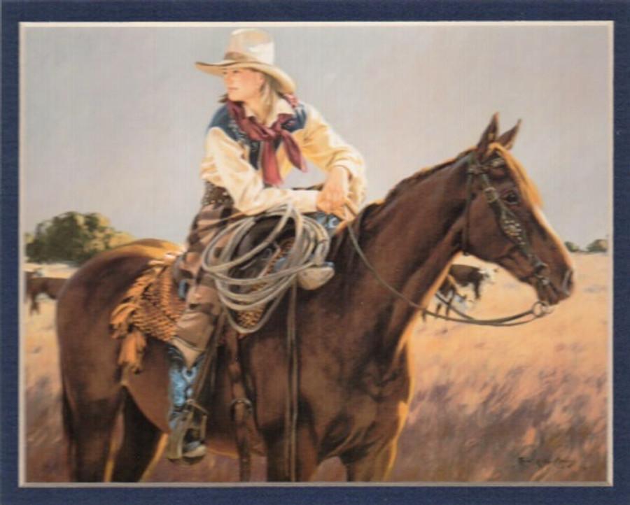 ART-TKM-00003 Western Cowgirl Print