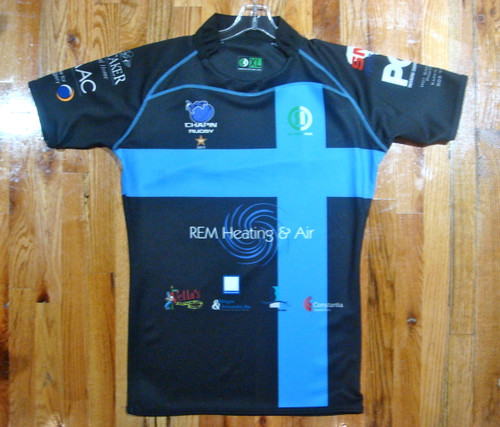 Rugby Ink - Chapin Eagles Rugby - Rugby Jersey - Black/Sky Blue - XL
