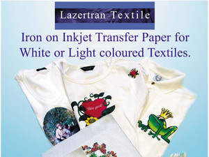 Lazertran Inkjet Light Cloth Transfer Paper for Fabric