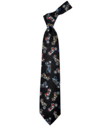 """Colored Motorcycles"" Novelty Tie"