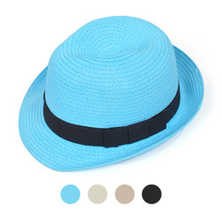 Women's Fedora Hat Solid 6pc H05801