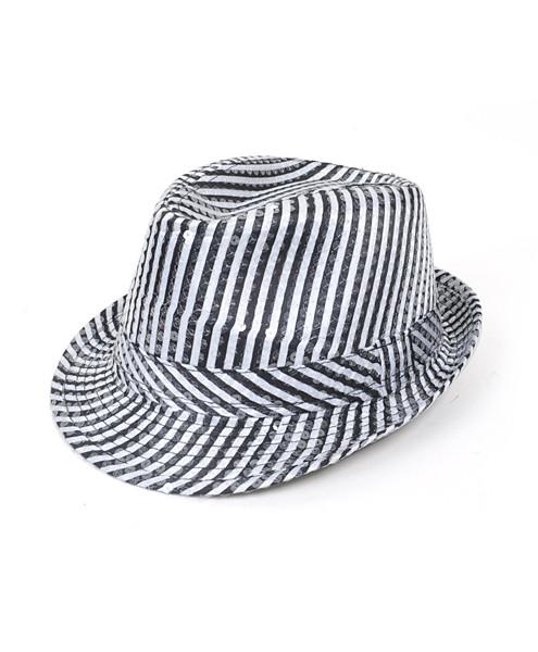 6pc Sequin Fedora Hat H5629