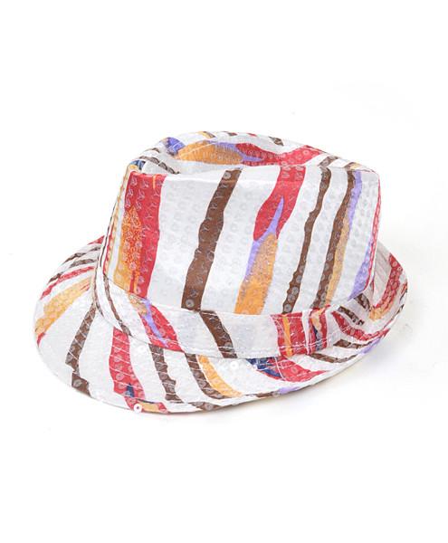 6pc Sequin Fedora Hat H5637