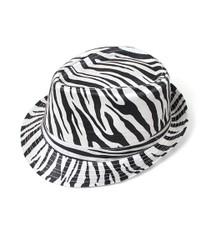 6pc Fedora Hat - Zebra HT0302