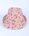 6pc Ladies Fedora Hats Flower Pink