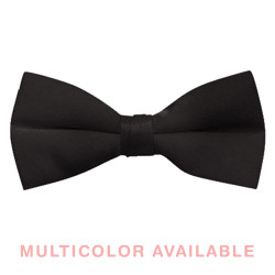 "Men's 2 1/2"" Pre-tied Poly Satin Bow Ties"