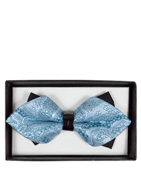 Formal Paisley Diamond Tip Banded Bow Tie - DBB3030-33
