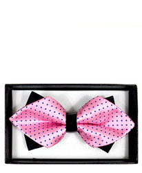 Formal Polka Dot Diamond Tip Banded Bow Tie - DBB3030-03