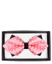 Elegant Polka Dot Diamond Tip Banded Bow Tie - DBB3030-04