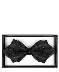 Trendy Diamond Tip Banded Bow Tie - DBB3030-11