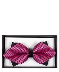 Trendy Geometric Diamond Tip Banded Bow Tie - DBB3030-05