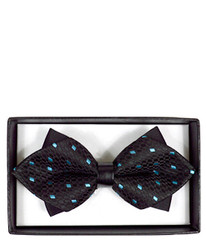 Casual Geometric Diamond Tip Banded Bow Tie - DBB3030-10