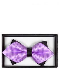 Lavender Geometric Diamond Tip Banded Bow Tie - DBB3030-32