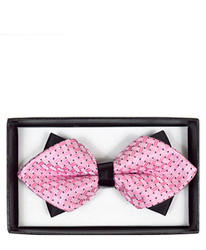 Casual Geometric Diamond Tip Banded Bow Tie - DBB3030-02
