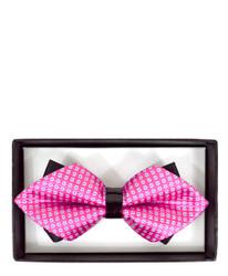 Trendy Geometric Diamond Tip Banded Bow Tie - DBB3030-01