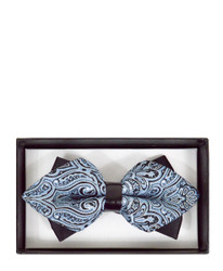 Casual Paisley Diamond Tip Banded Bow Tie -  DBB3030-27
