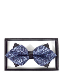 Formal Paisley Diamond Tip Banded Bow Tie - DBB3030-28