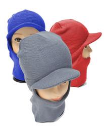 12pc Pack Knit Ski Mask with Visor Cap LH1002