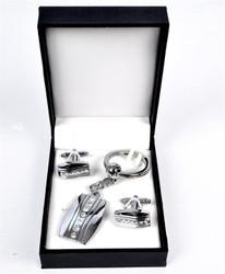 Cufflink & Key Chain Set CKB215