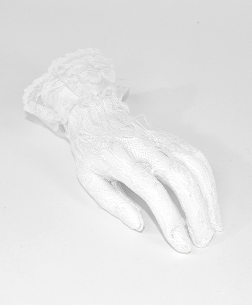 Lace Ruffle Cuff Gloves LG