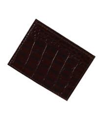 Cow Croco Print Magnetic Money Clip CCGMC45BR