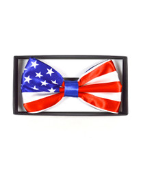 6pc. Prepack Boxed American Flag Banded Bow Ties NFB10001