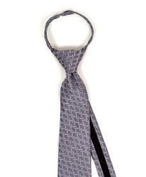 Boy's Geometric/Polka Dot Zipper Tie - MPWZ3516