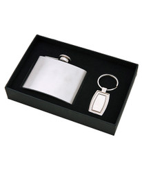 Boxed Flask & Keychain Set FK1000