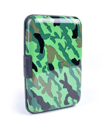12pc Pack Card Guard Aluminum Compact Card Holder - Camo CASE009