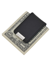 Two-Tone Leather and Zinc-Alloy Money Clip MC1060