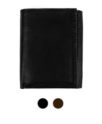 Genuine Leather Tri-Fold Wallet MGLW505