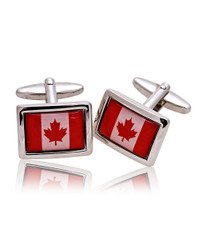Canadian Flag Novelty Cufflinks NCL3601