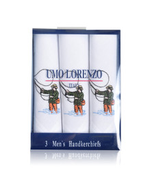 Men's Cotton Handkerchiefs (3-Pack) Embroidered Fishing MEH2606