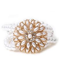 Women's Stretch Bracelet Pearl Flower - IMJS0115