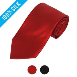 Formal Solid X-long Silk Satin Tie - SSX1301